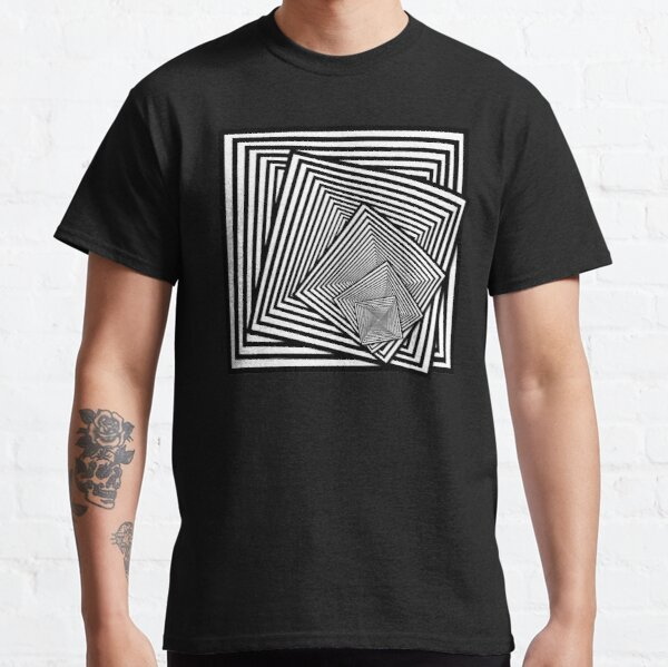 Twisting optical squares 3 Classic T-Shirt