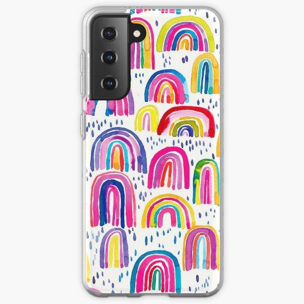 Cheerful and pretty multi-colored rainbows Samsung Galaxy Soft Case