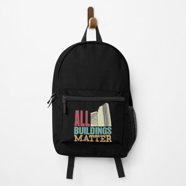 all buildings matter colorful Backpack