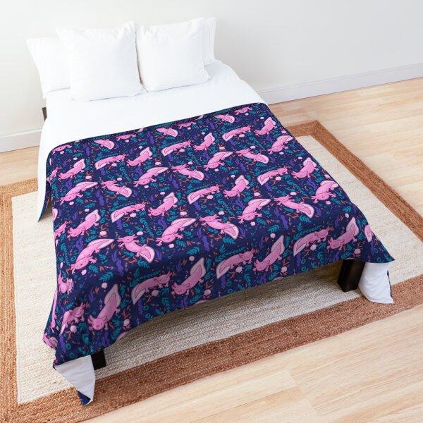 axolotl and underwater elements Comforter