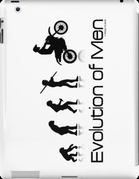 Evolution of Men- Off Road Motorcycle  by Janja