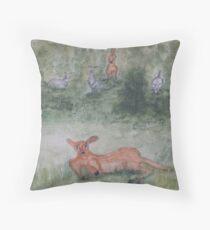 Kangaroos. Throw Pillow