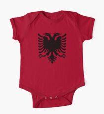 Body de manga corta para bebé Shqipe - Grifo albanés