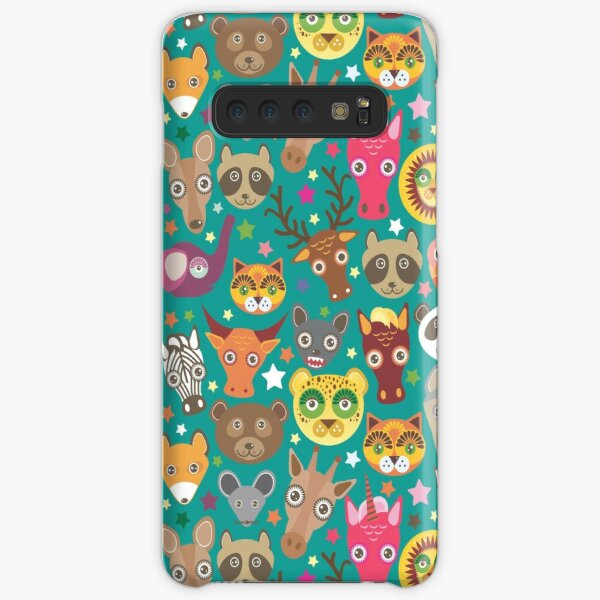 funny animals muzzle lion, kangaroo, horse, bear, mouse, raccoon Samsung Galaxy Snap Case