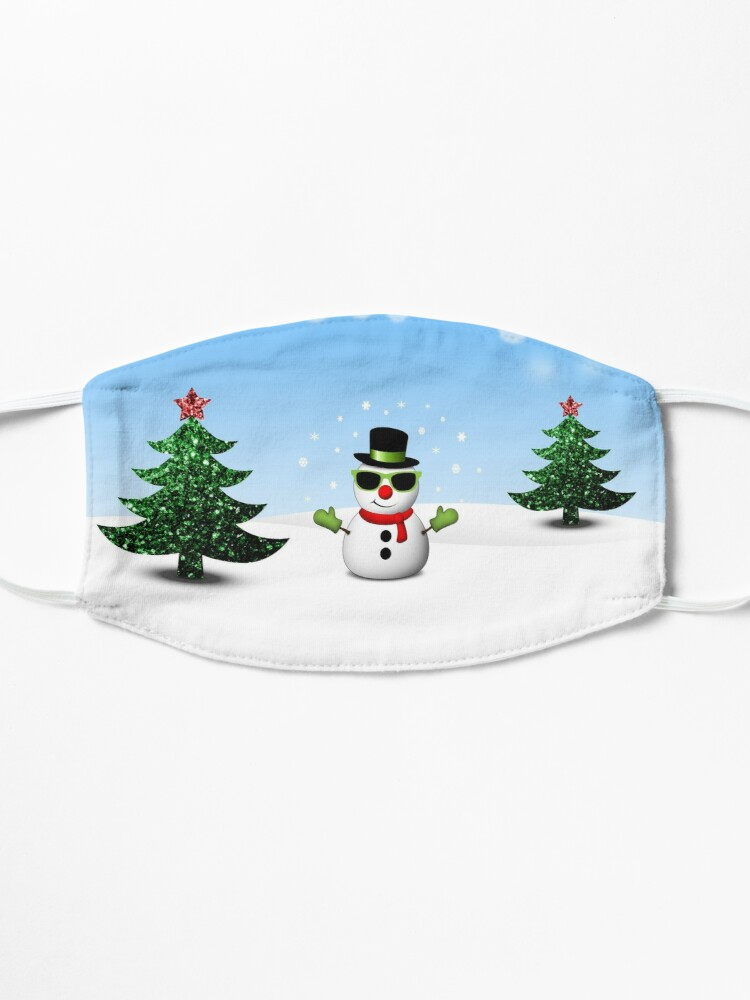 Alternate view of Cool Snowman and Sparkly Christmas Trees Mask