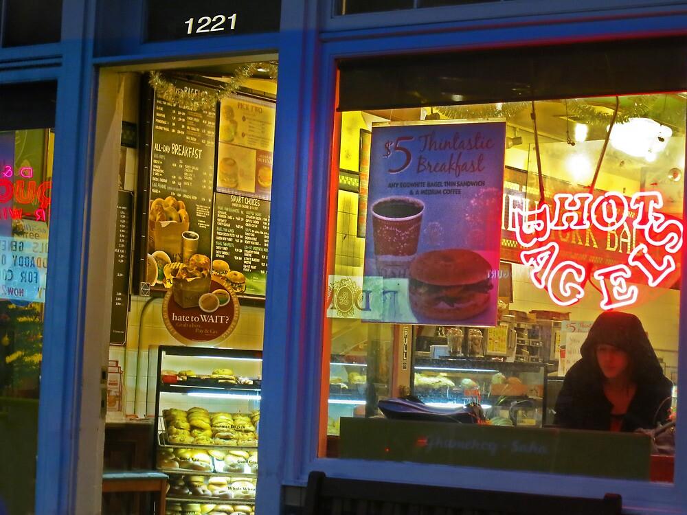 Hot Bagel on Fillmore Street by David Denny