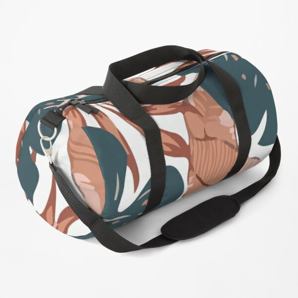 Summer seamless tropical pattern with leaves Duffle Bag