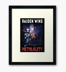 Raiden Wins Metalality (Iron Maiden) Framed Print