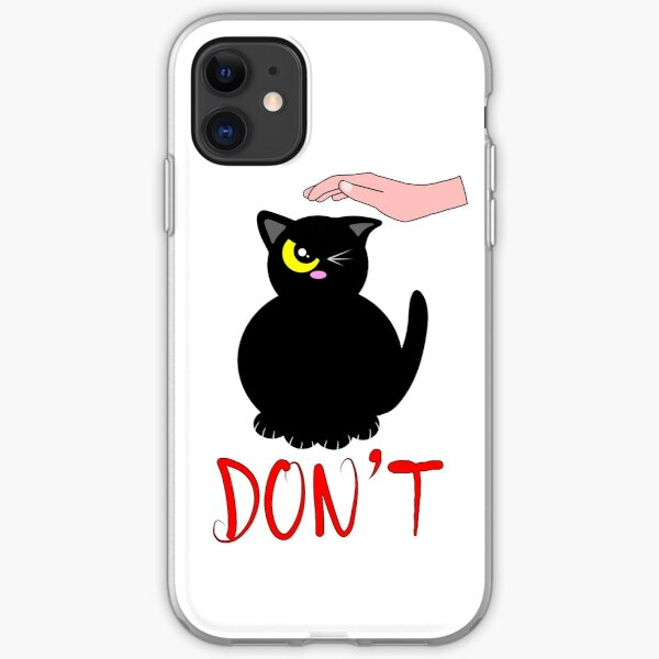 Angry cat iPhone Soft Case