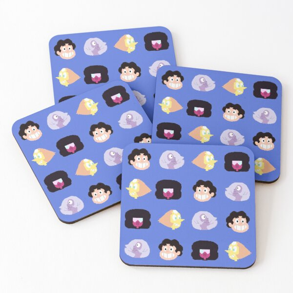 Steven Universe - Pixel Pattern Coasters (Set of 4)