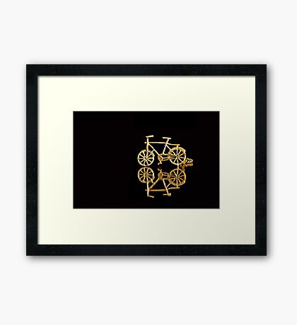 I Want to Ride my Bicycle... Framed Print