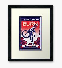 Lámina enmarcada Cartel de bicicleta retro Feel the Burn
