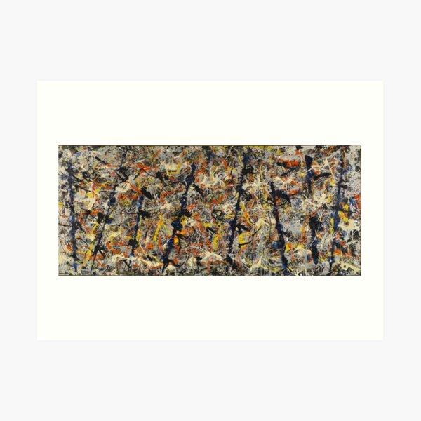 Jackson Pollock - Blue Poles - pintura expresionista abstracta Lámina artística