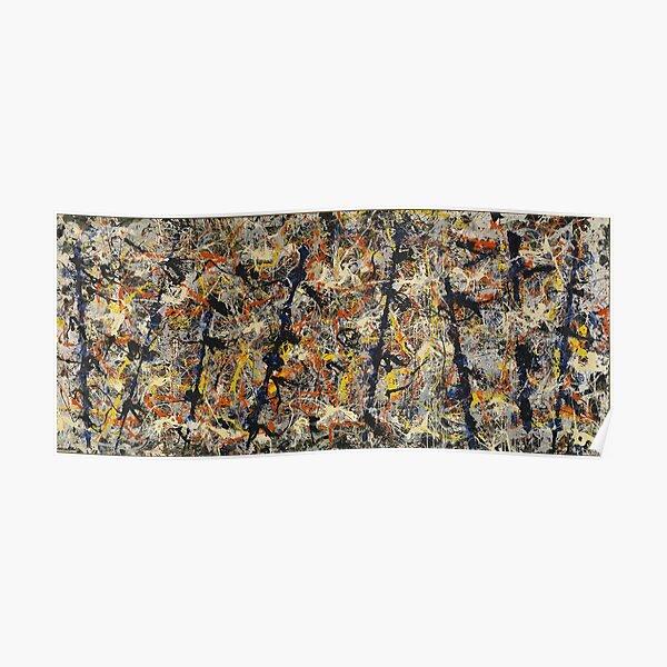 Jackson Pollock - Blue Poles - peinture expressionniste abstraite Poster