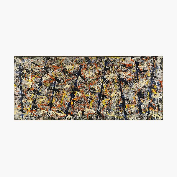 Jackson Pollock - Blue Poles - abstract expressionist painting Photographic Print
