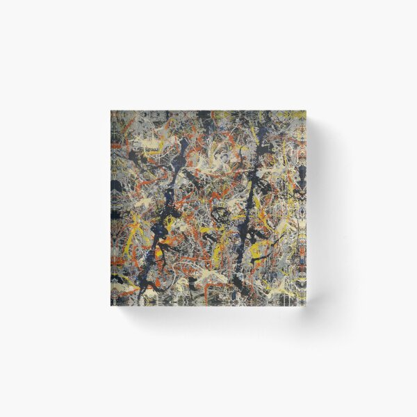 Jackson Pollock - Blue Poles - abstract expressionist painting Acrylic Block