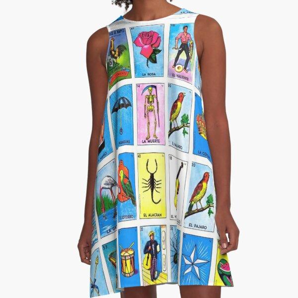 Lottery / Mexican Bingo A-Line Dress