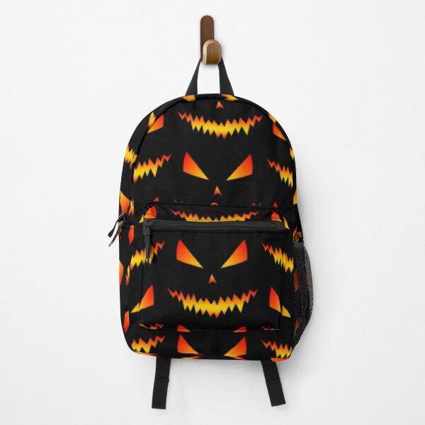 Cool and scary Jack OLantern face Halloween Backpack