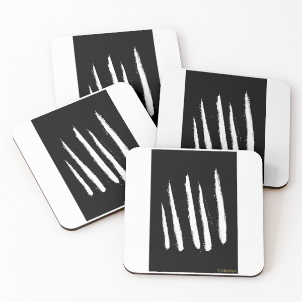 Black and White Home Decor Coasters (Set of 4)