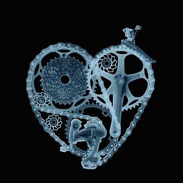 Radiografía del corazón de amante de bicicleta de SFDesignstudio