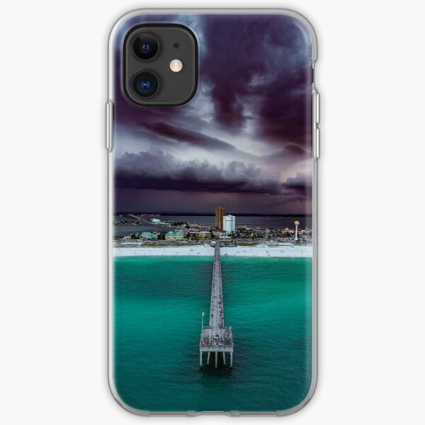 Moody Pensacola Pier iPhone Soft Case