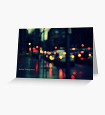 Downpour in the traffic Greeting Card