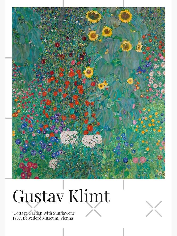 Gustav Klimt - Exhibition Art Poster - Cottage Garden With Sunflowers - Belvedere Museum by franciscouto