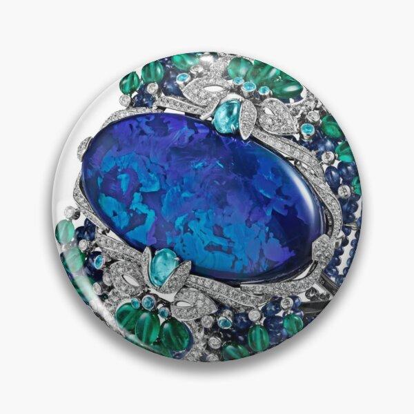 HIGH JEWELRY BRACELET ... Platinum, opal, sapphires, emeralds, Paraiba tourmalines Pin