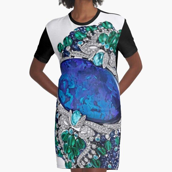 HIGH JEWELRY BRACELET ... Platinum, opal, sapphires, emeralds, Paraiba tourmalines Graphic T-Shirt Dress