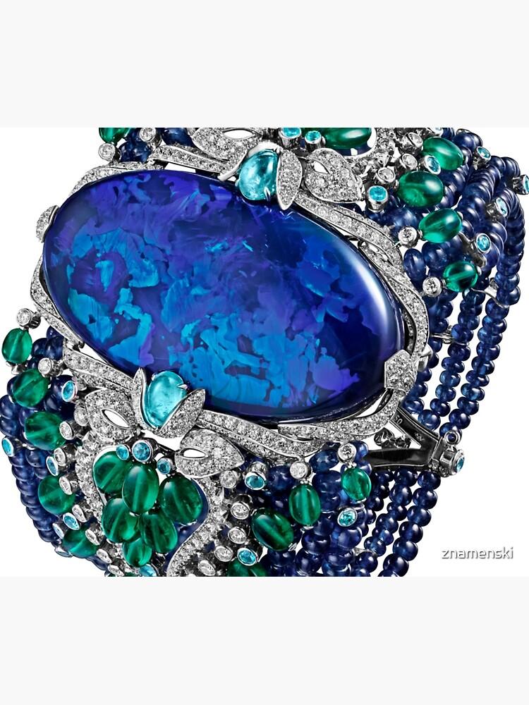 HIGH JEWELRY BRACELET ... Platinum, opal, sapphires, emeralds, Paraiba tourmalines by znamenski