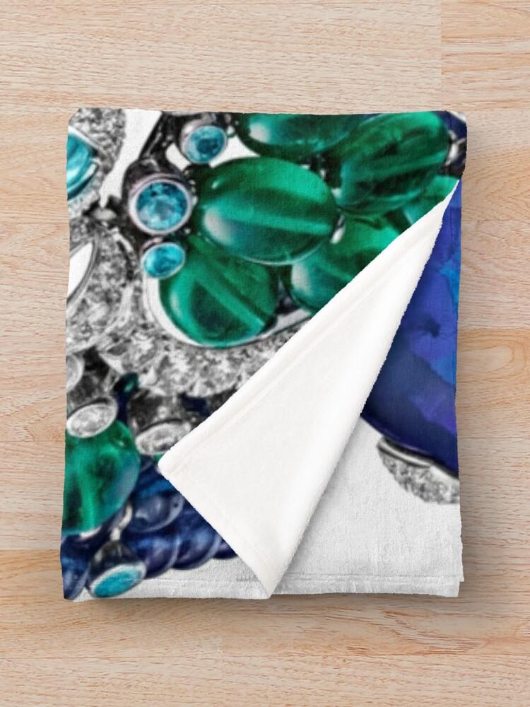 Alternate view of HIGH JEWELRY BRACELET ... Platinum, opal, sapphires, emeralds, Paraiba tourmalines Throw Blanket