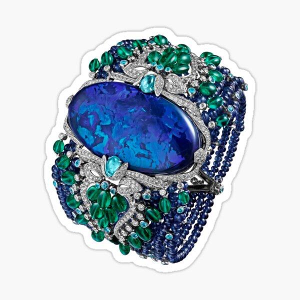 HIGH JEWELRY BRACELET ... Platinum, opal, sapphires, emeralds, Paraiba tourmalines Sticker