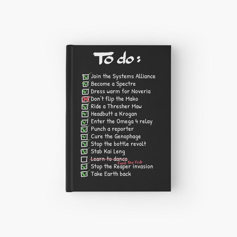 Commander Shepards To-Do List Hardcover Journal