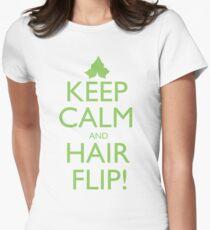 Discreetly Greek - Keep Calm and Hair Flip! T-Shirt