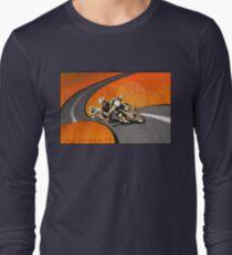 retro motorcycle Isle of Man TT poster Long Sleeve T-Shirt