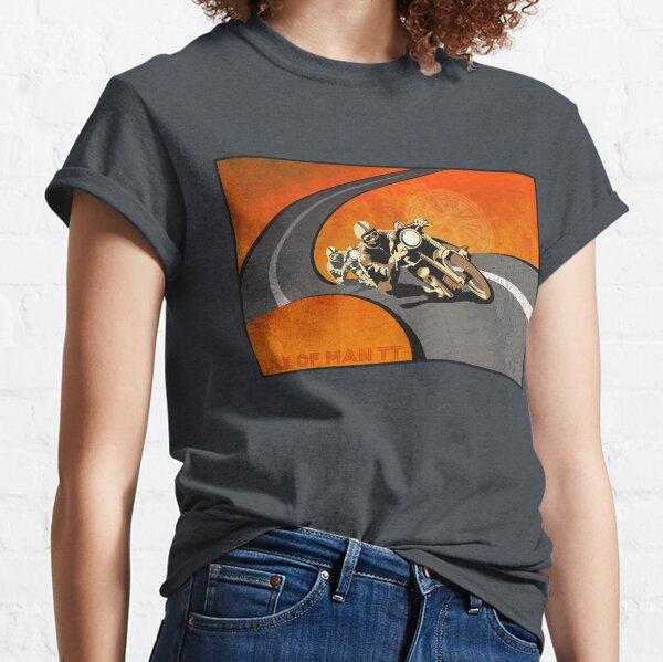 rétro moto île de Man TT affiche T-shirt classique
