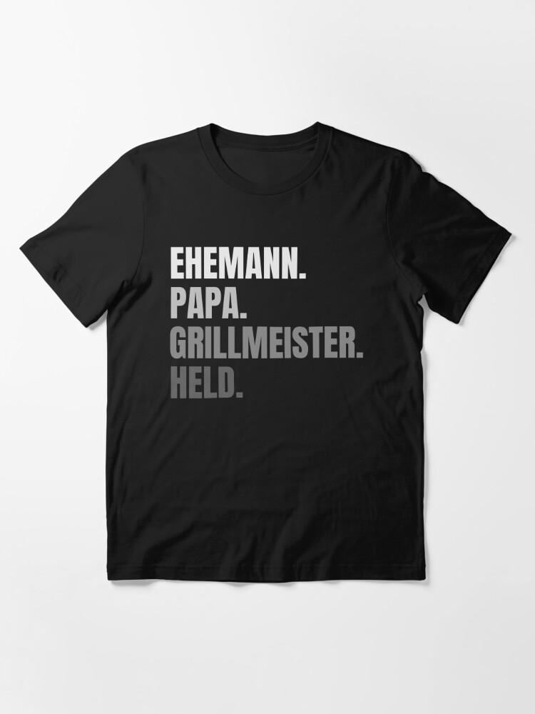 Herren Ehemann Papa Grillmeister Held Vatertags Shirt Geschenk T-Shirt