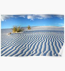 White Sands Blue Sky Poster