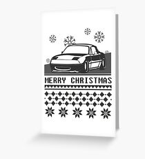 Merry Christmas miata Greeting Card