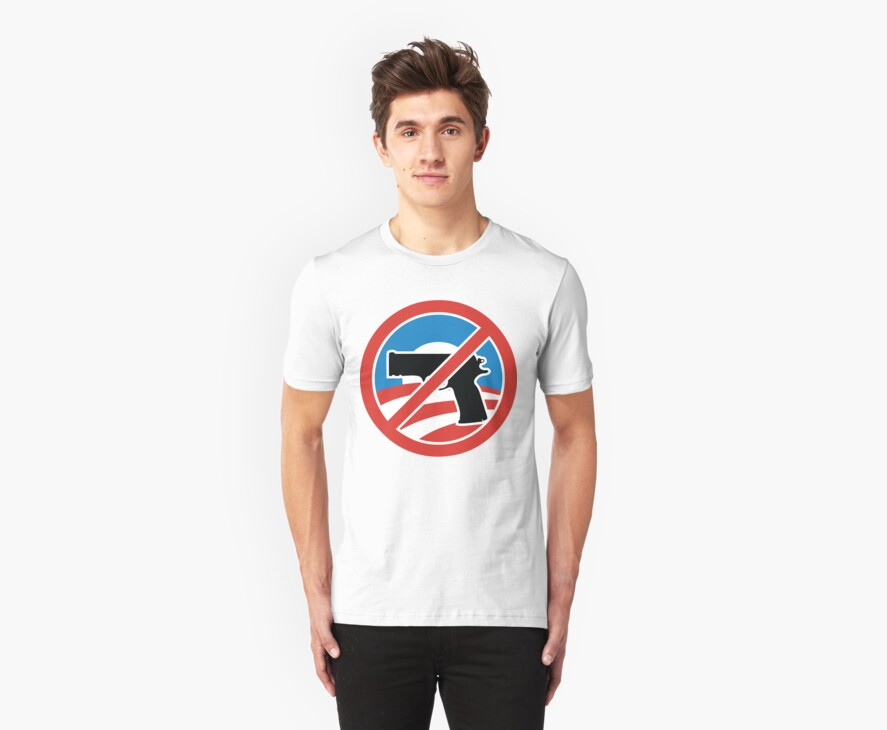 I LOVE OBAMA WEAPON BAN T-shirt by ethnographics