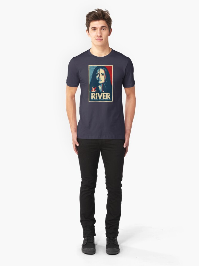 Alternate view of She Can Kill You With Her Brain Slim Fit T-Shirt