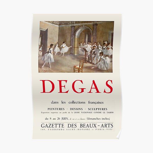 Edgar Degas - Exhibition poster advertising a 1955 exhibition at the Gazette des Beaux-Arts in Paris Poster