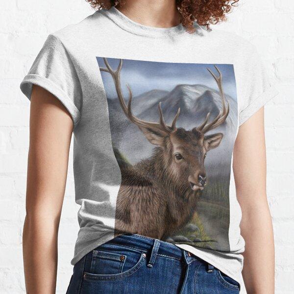 Wildlife Artwork of an Elk Classic T-Shirt