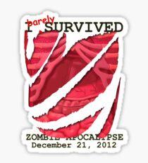 Zombie Apocalypse 2012 survivor Sticker