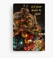 Baubles for Christmas cards Canvas Print