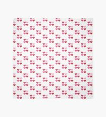 DAMASK HEARTS QUAD PATTERN red & pink Scarf