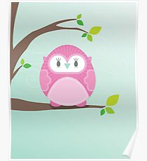 Sweet owl in a tree 4 Poster