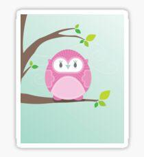 Sweet owl in a tree 4 Sticker