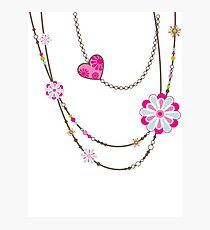 NECKLACE :: funky flowers chain bright colourful Photographic Print