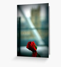 La Rose de Beaubourg. Greeting Card